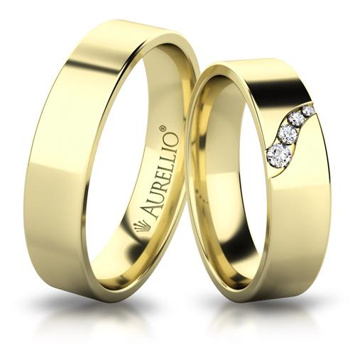 Snubní prsteny - Rozdmýchaný URAN 1. fotka