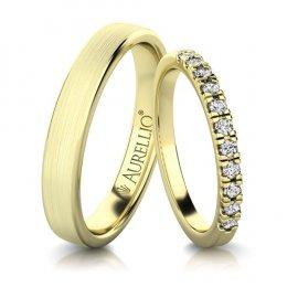 Snubní prsteny - Hedvábné SLUNCE