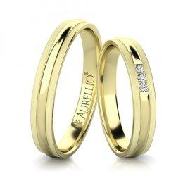 Snubní prsteny - Neokázalý SATURN