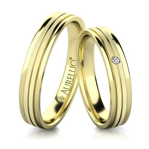 Snubní prsteny - Přímočarý URAN 1. fotka