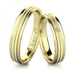 Snubní prsteny - Přímočarý URAN