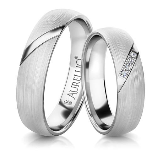 Snubní prsteny - Zkosený JUPITER 1. fotka