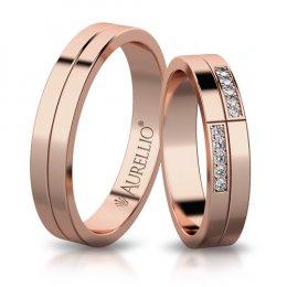 Snubní prsteny - Kontrastní JUPITER