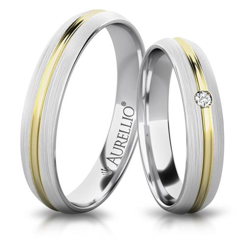 Snubní prsteny - Bouřící SATURN - 2 kameny 1. fotka