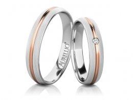 Snubní prsteny - Bouřící SATURN - 2 kameny