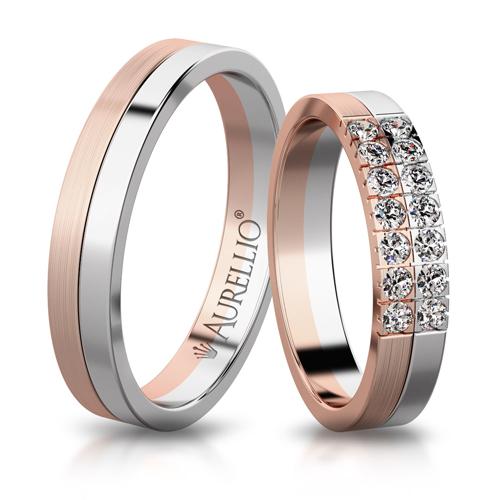Snubní prsteny - Dvoubarevný JUPITER 1. fotka