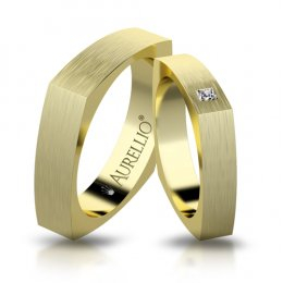 Snubní prsteny - Hranatý MARS