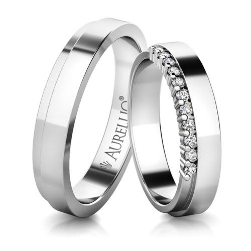 Snubní prsteny - Urozený SATURN - 11 kamenů 1. fotka
