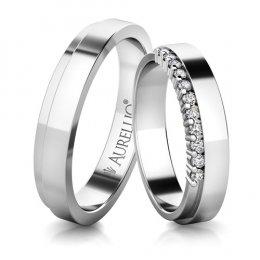 Snubní prsteny - Urozený SATURN - 11 kamenů