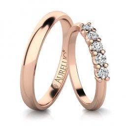 Snubní prsteny - Vládnocí SATURN - 5 kamenů