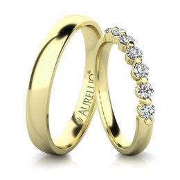 Snubní prsteny - Pohádková VENUŠE - 7 kamenů