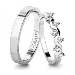 Snubní prsteny - Vznešená VENUŠE - 7 kamenů